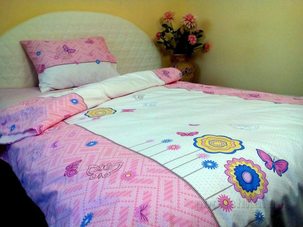 Подростковое постельное белье Билана Цветы на розовом