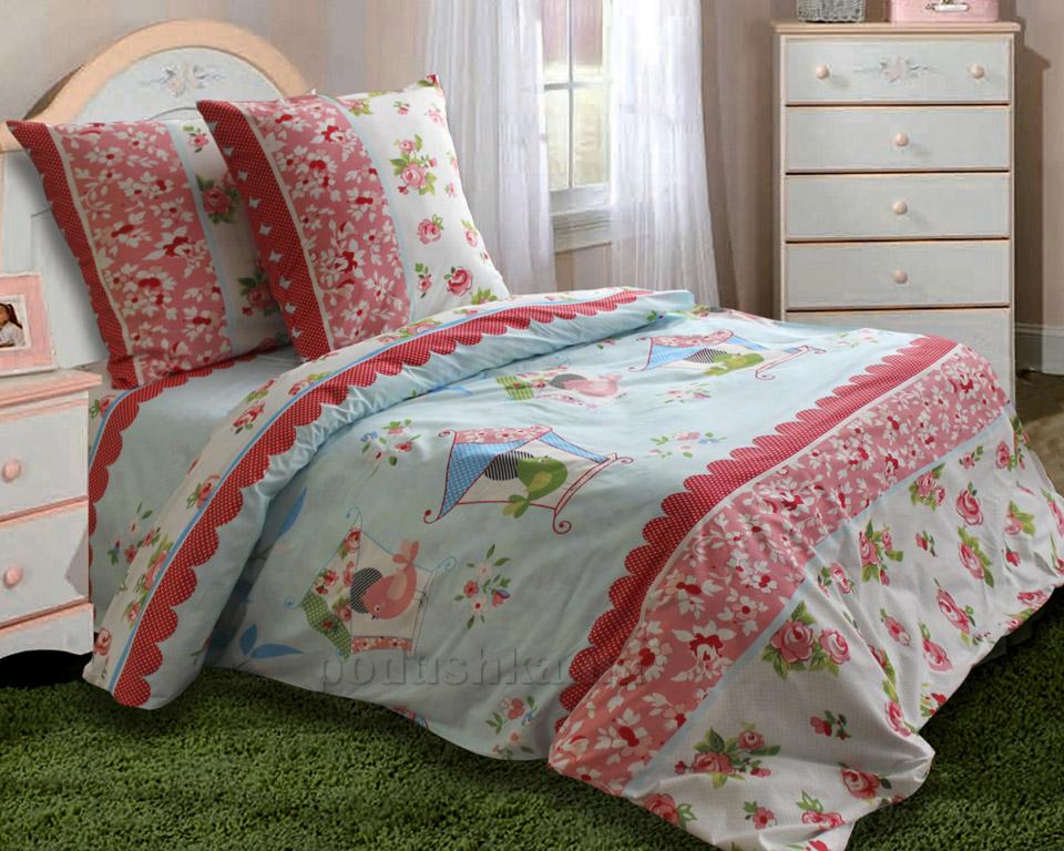 Подростковое постельное белье Блакит Скворушка 4392