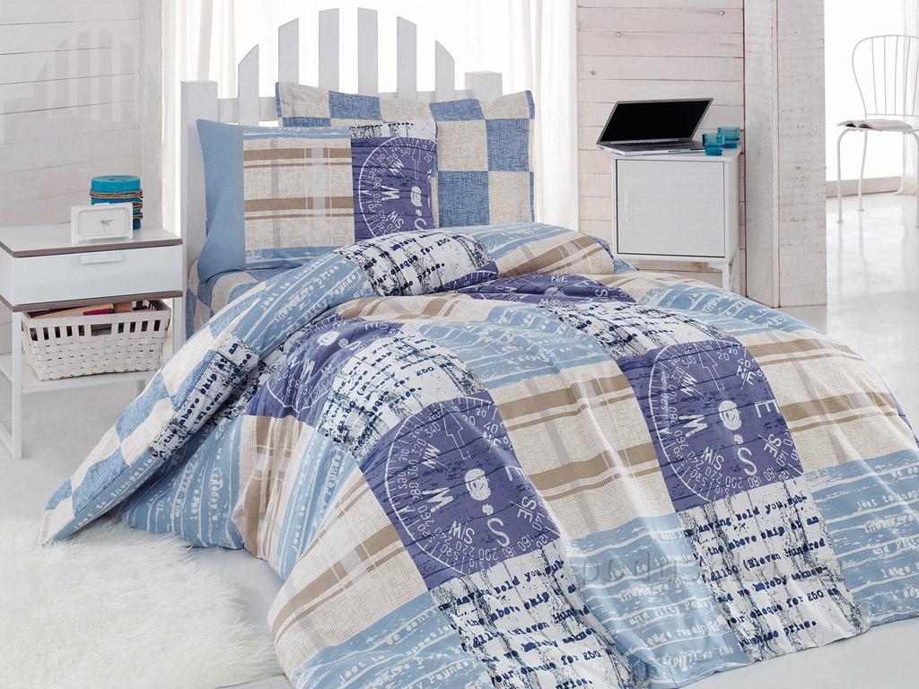 Подростковое постельное белье Cotton Box Private Mavi