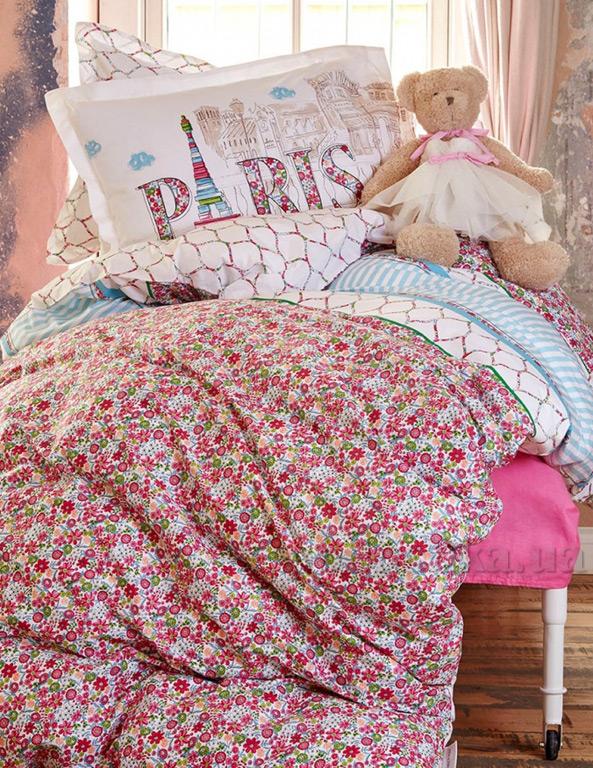 Подростковое постельное белье Karaca ранфорс Melosa Полуторный комплект пике Karaca home