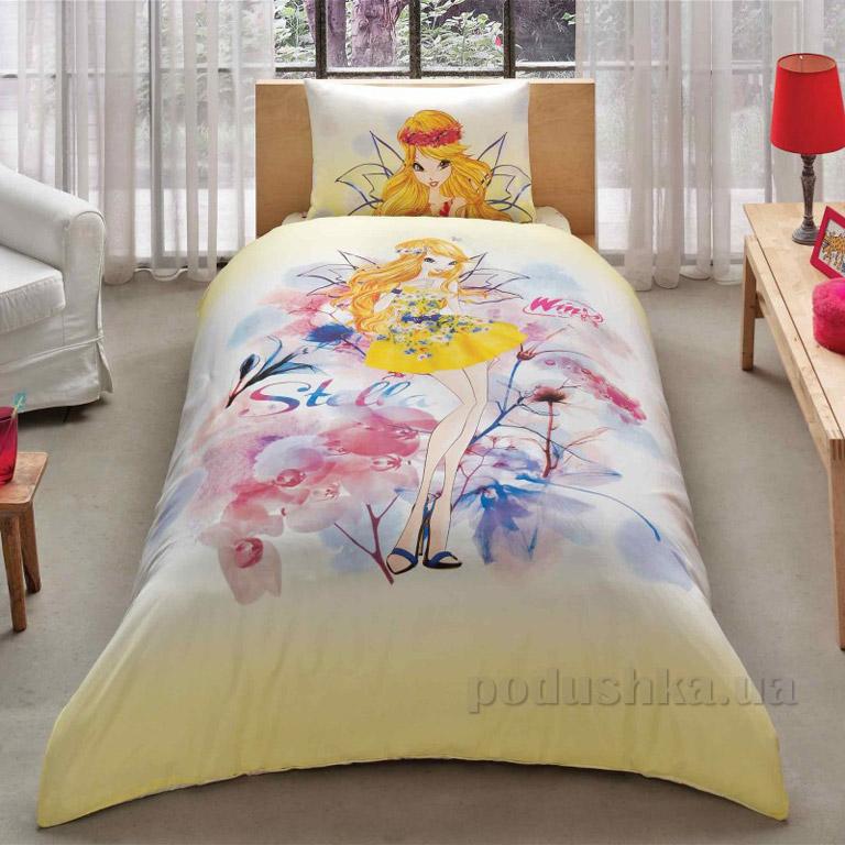 Подростковое постельное белье TAC Winx Stella water colour