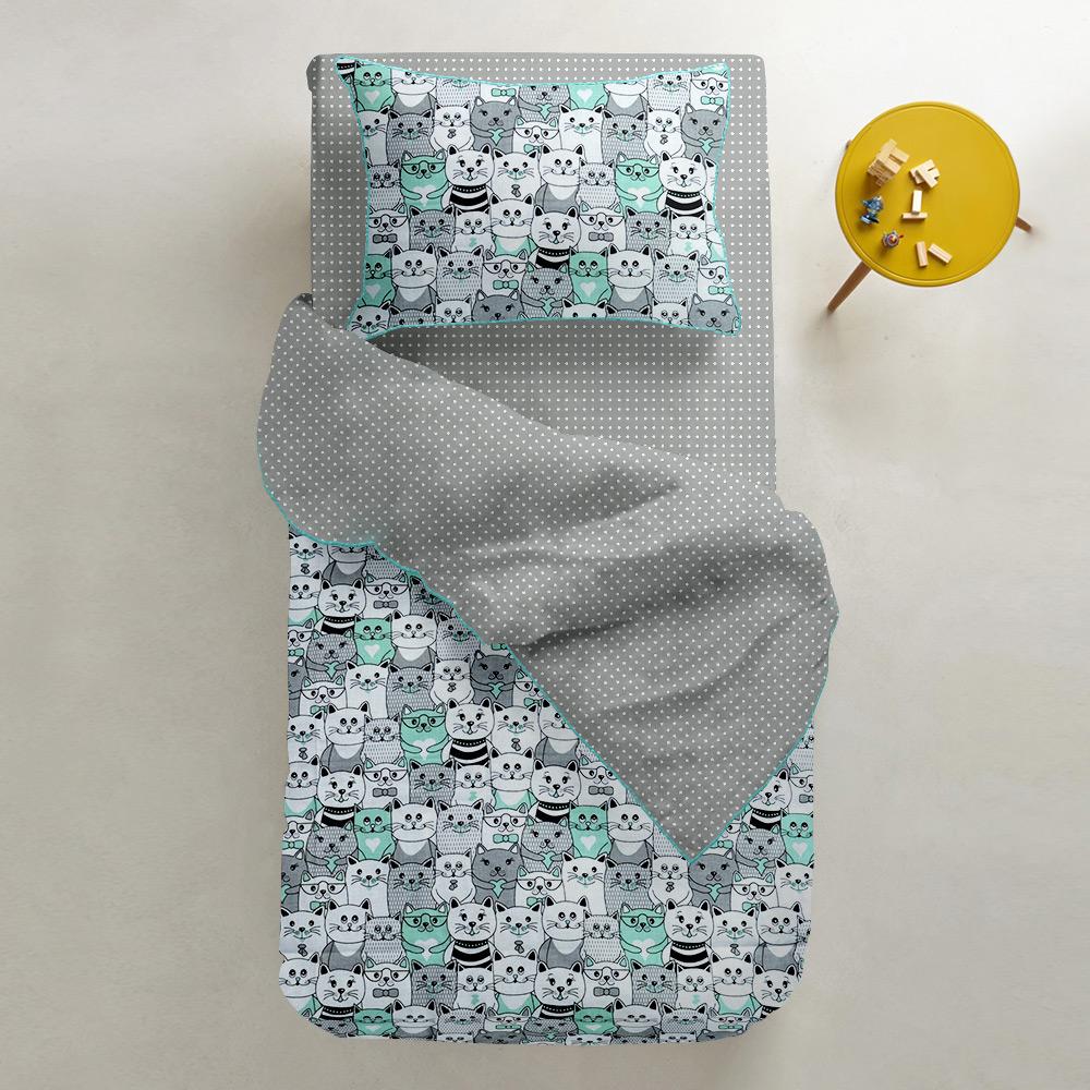 Подростковый комплект постельного белья Cosas Cats Dots 155