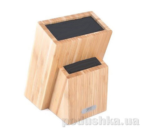 Подставка для хранения ножей Gipfel 19х12х27 см (бамбук,пластик)