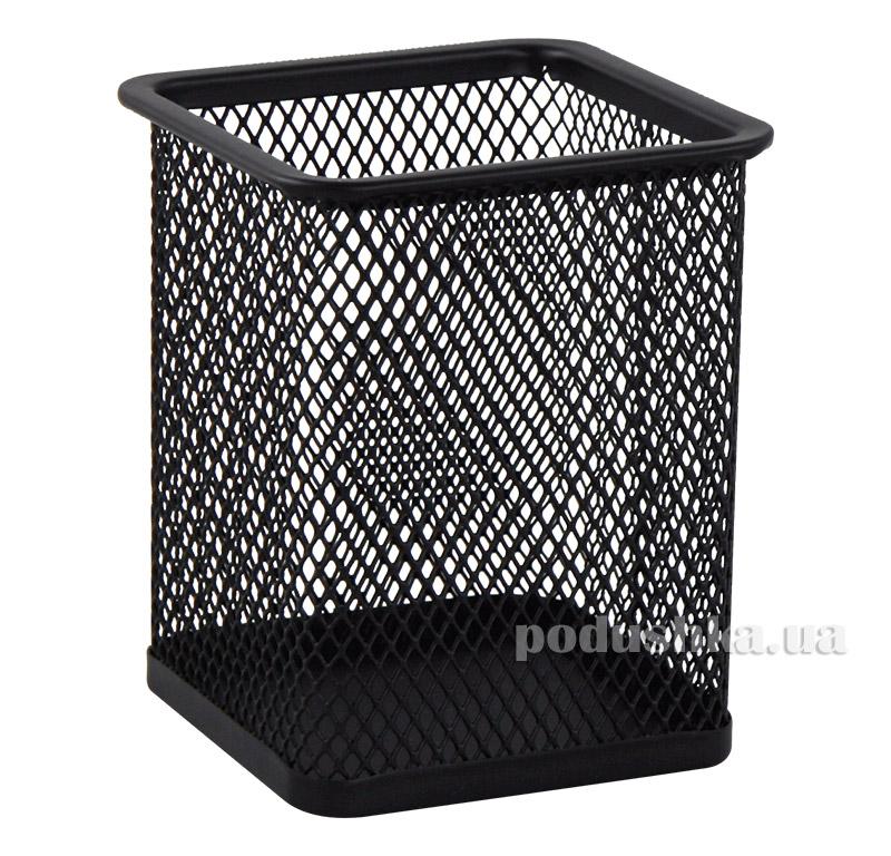 Подставка для ручек Buromax квадратная металлическая черная BM.6201-01