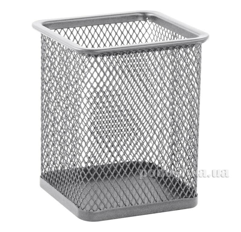 Подставка для ручек Buromax квадратная металлическая серебро BM.6201-24
