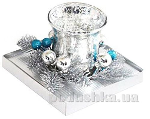 Подсвечник стеклянный с декором Angel Gifts 5A2400
