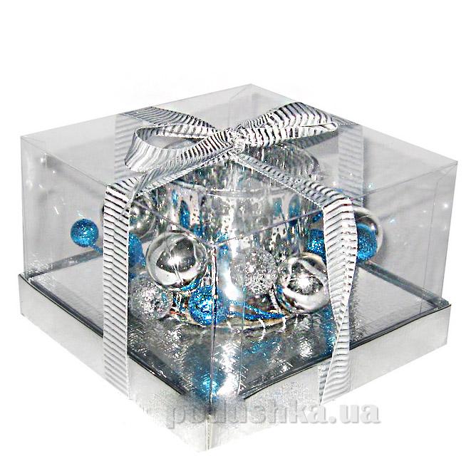 Подсвечник стеклянный с декором Angel Gifts 5A2404