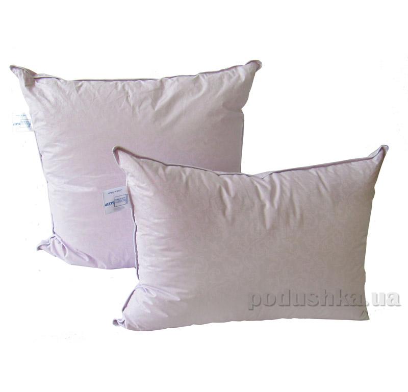 Подушка 50% пуха SoundSleep Calm сиреневая 70х70 см  SoundSleep