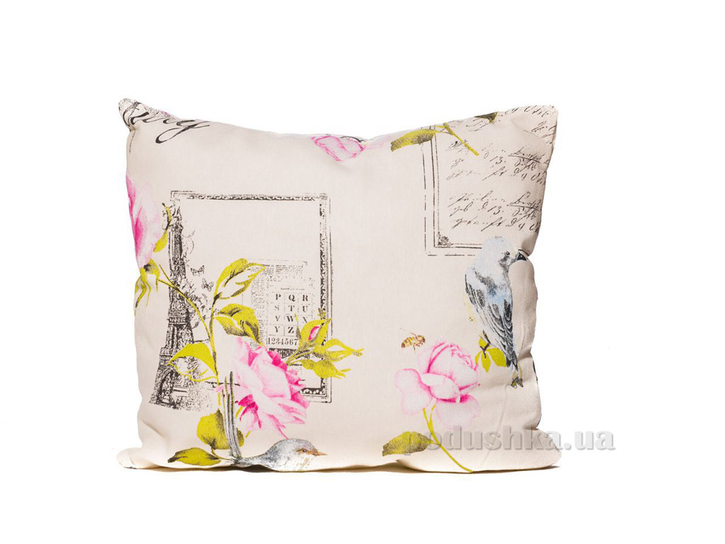 Подушка декоративная Izzihome Колибри розовая