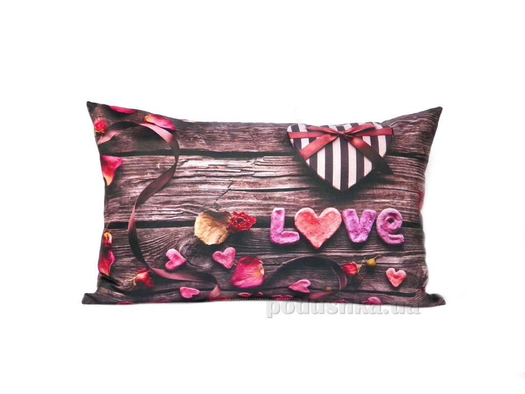 Подушка декоративная Izzihome Love бежевая