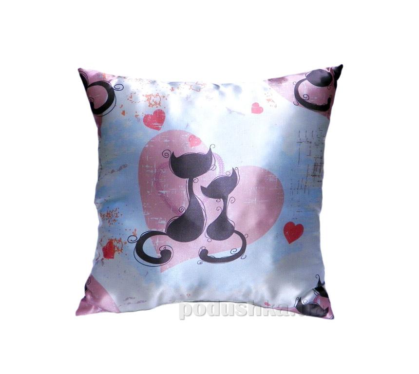 Подушка декоративная Izzihome Влюбленные коты