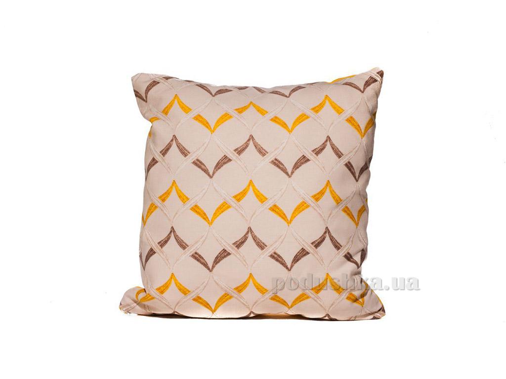 Подушка декоративная Izzihome Волна желтая