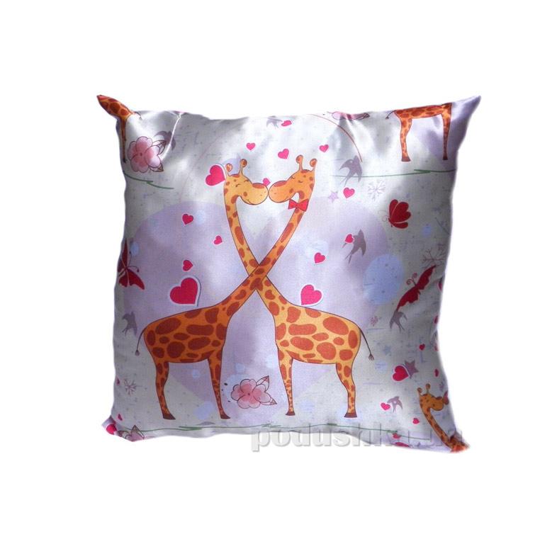 Подушка декоративная Izzihome Жирафы и ладошка