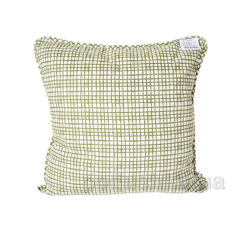 Подушка декоративная Прованс Andre Tan оливковая клетка 51148