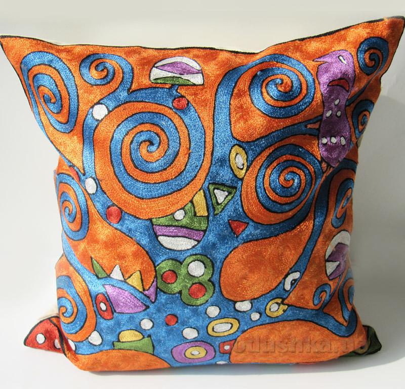 Подушка декоративная ручной работы Чудное дерево