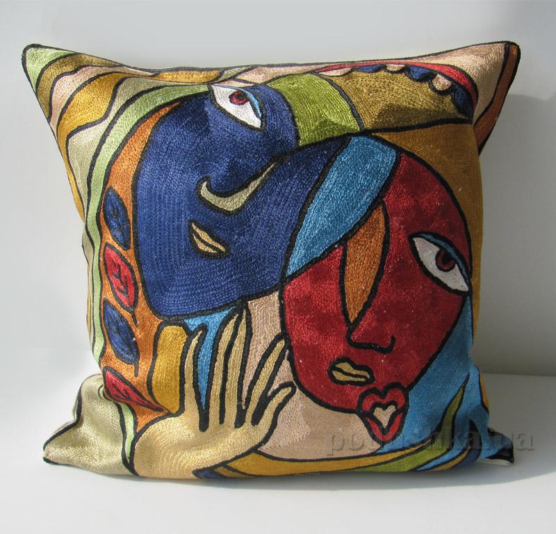 Подушка декоративная ручной работы Лица