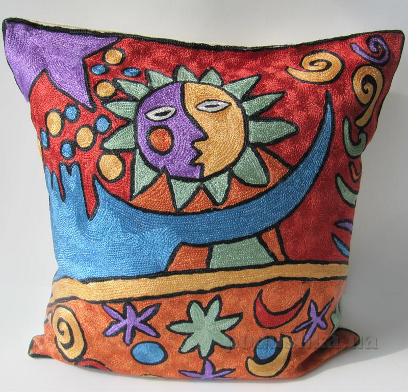Подушка декоративная ручной работы Солнце