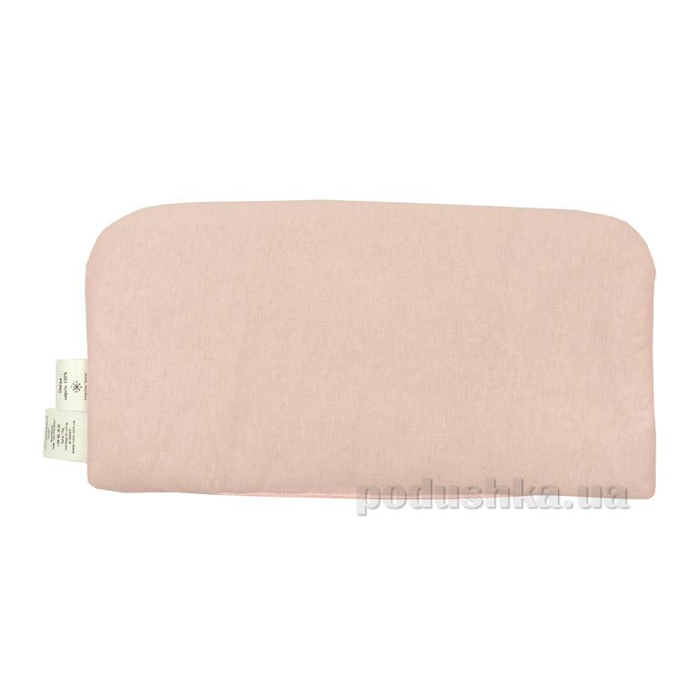 Подушка детская в коляску зима-лето от 0-1 года Руно розовая