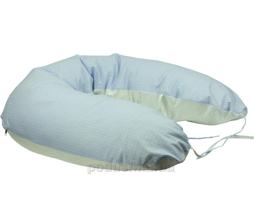 Подушка для кормления Руно Панда голубая