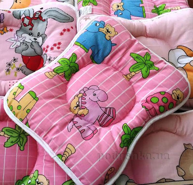 Подушка для новорожденных Масюня розовая