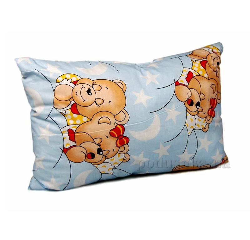 Подушка для ребенка 86213 Мишки голубая