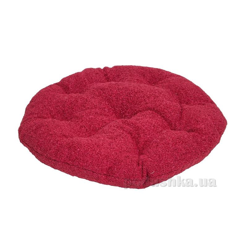 Подушка для стула круглая Прованс Астра бордо