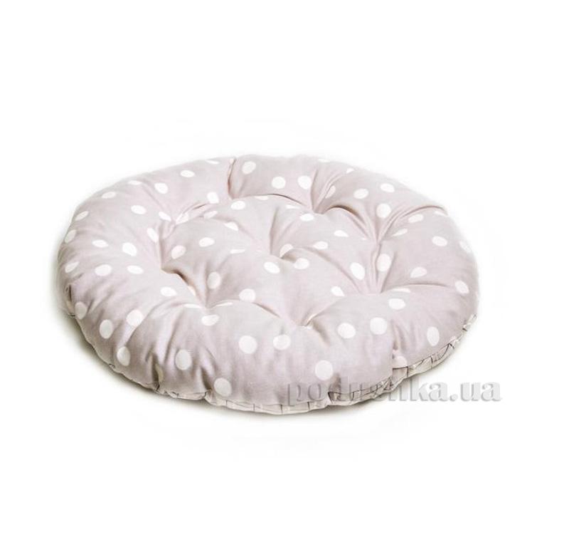 Подушка для стула круглая Прованс Классик Горох