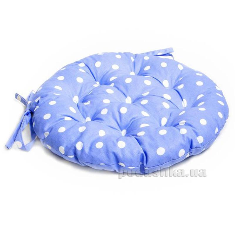 Подушка для стула круглая Прованс Классик Горох Лаванда