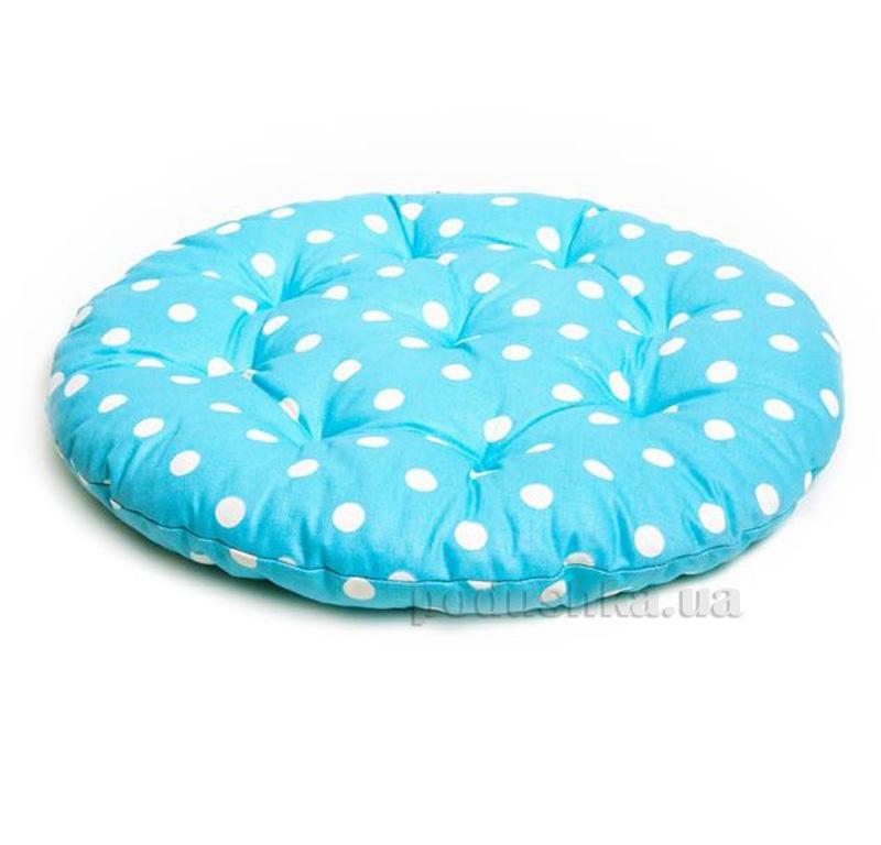Подушка для стула круглая Прованс Классик Горох Тифани
