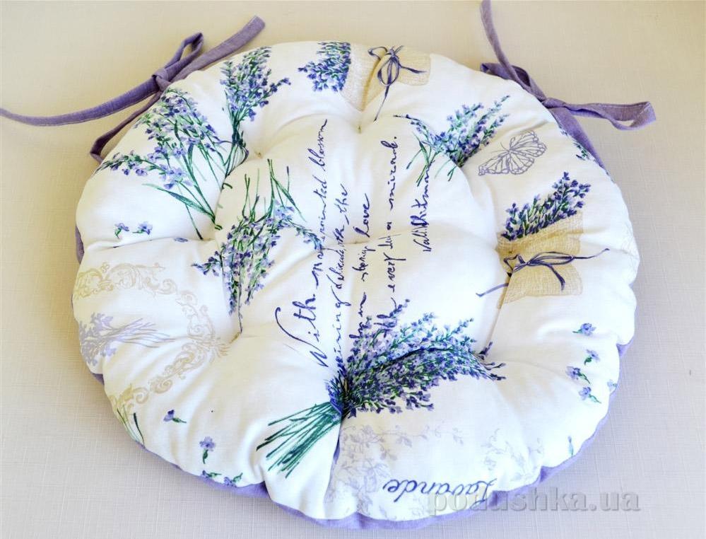 Подушка для стула круглая Прованс Лаванда