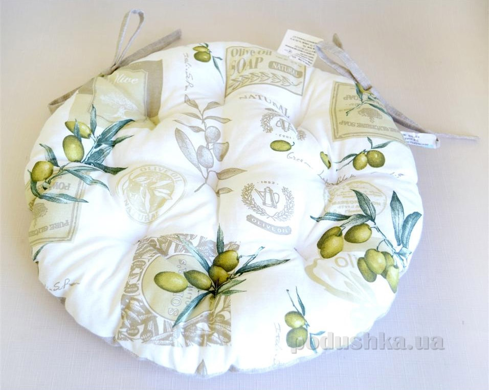 Подушка для табурета круглая