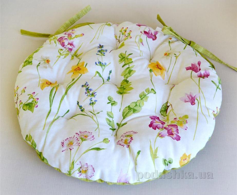 Подушка для стула круглая Прованс Весна