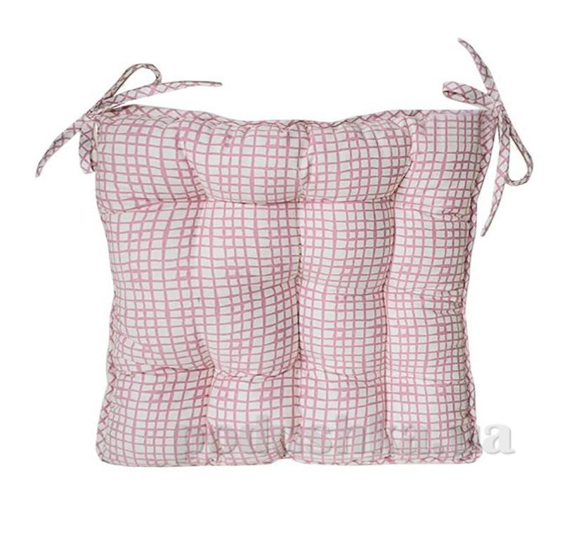 Подушка для стула Прованс Andre Tan розовая клетка 51153