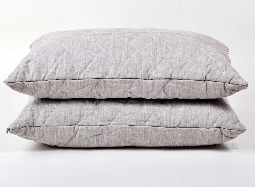 Подушка льняная стёганая Хэппи лен