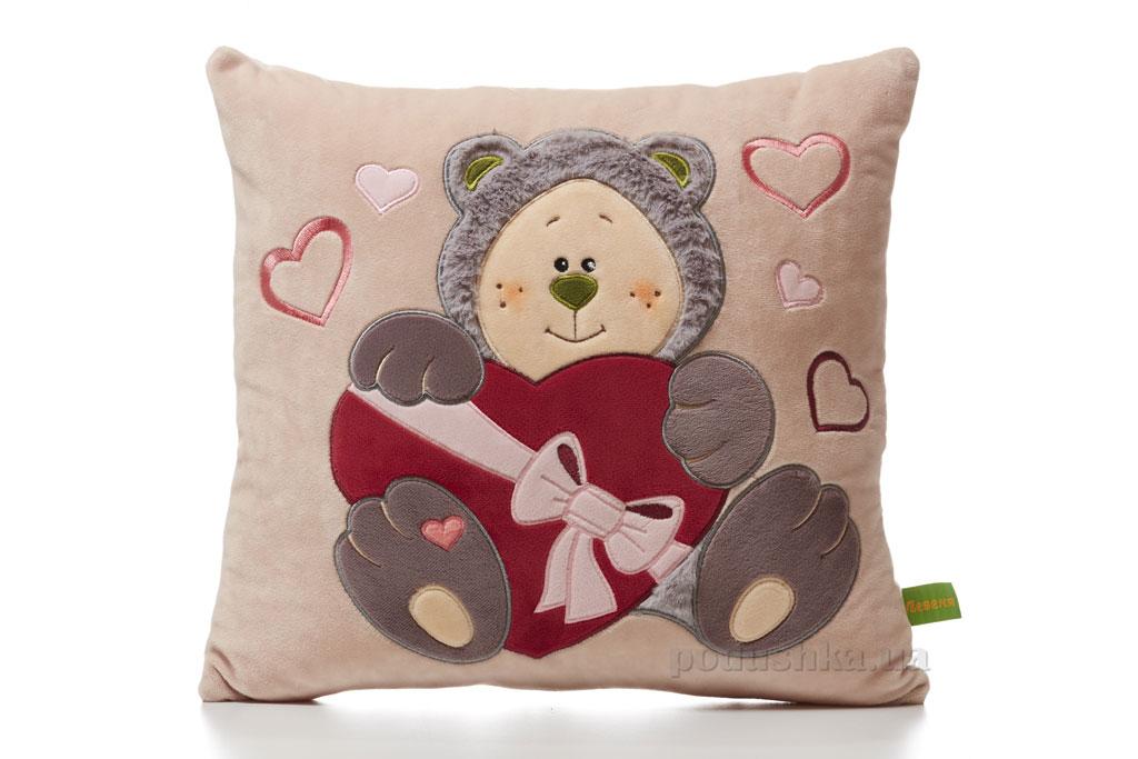 Подушка Почемучка-Мишка Влюбленный ТМ Левеня K367B