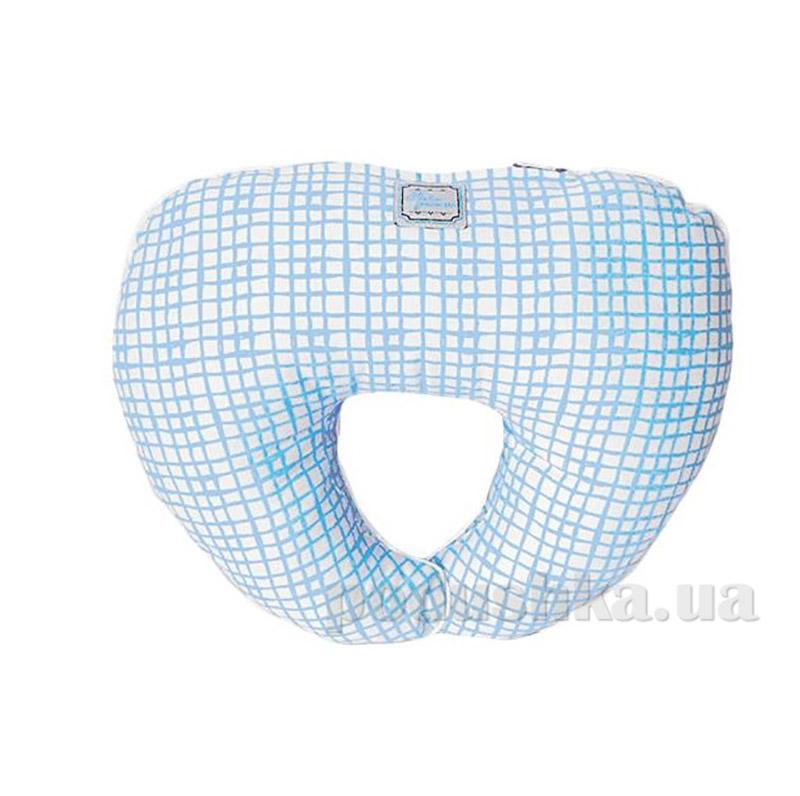 Подушка под голову Прованс Andre Tan голубая клетка 000185
