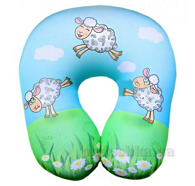 Подушка рогалик антистрессовый-турист Прыгающие овечки 15асп13ив