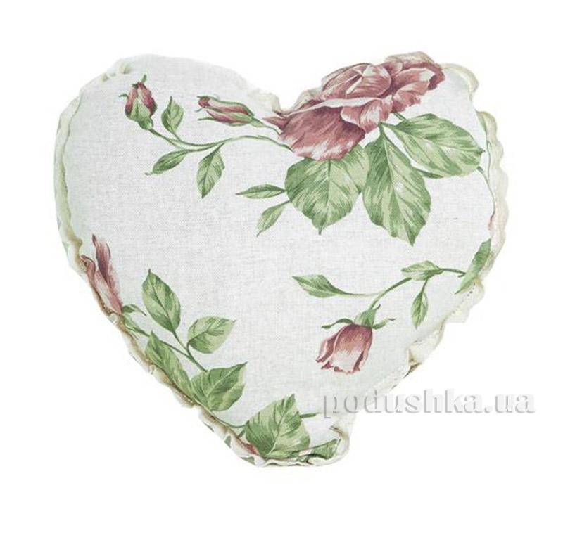 Подушка ручной работы Сердце Прованс 1706