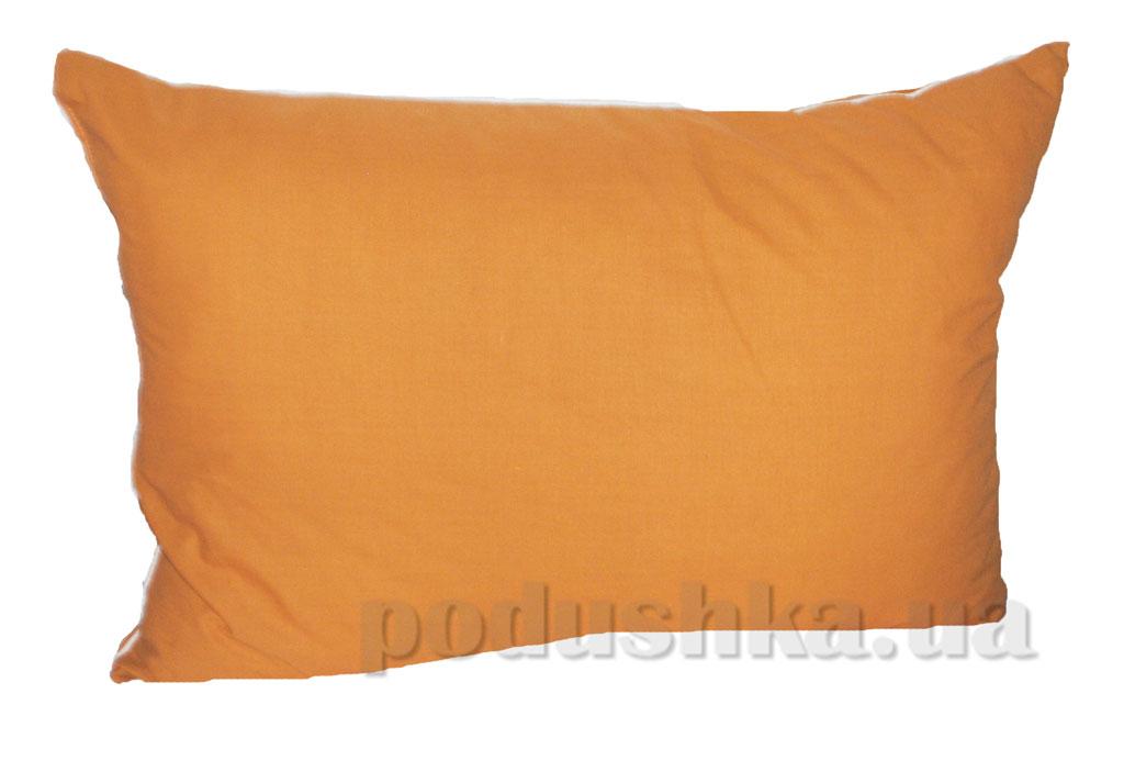 Подушка с антиаллергенным наполнителем Zastelli с кантом горчичный