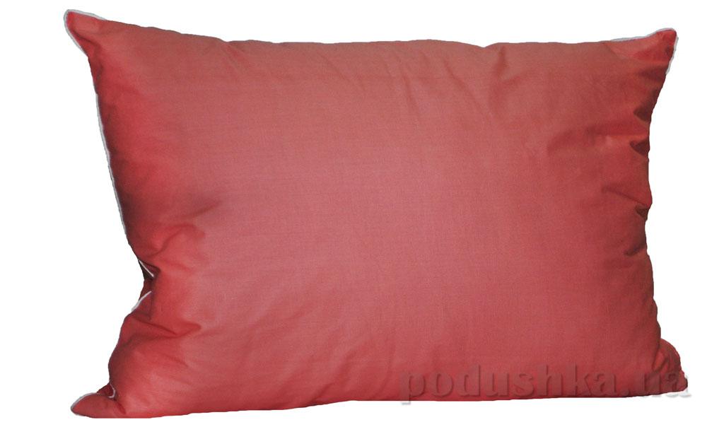 Подушка с антиалергенным наполнителем Zastelli с кантом розовая