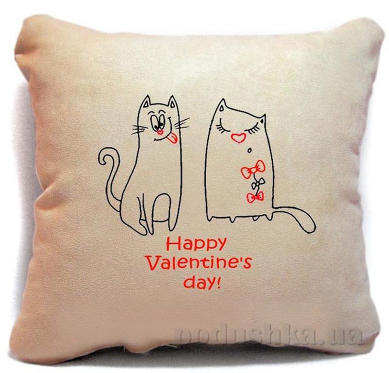 Подушка серии Happy Valentines day Slivki-09