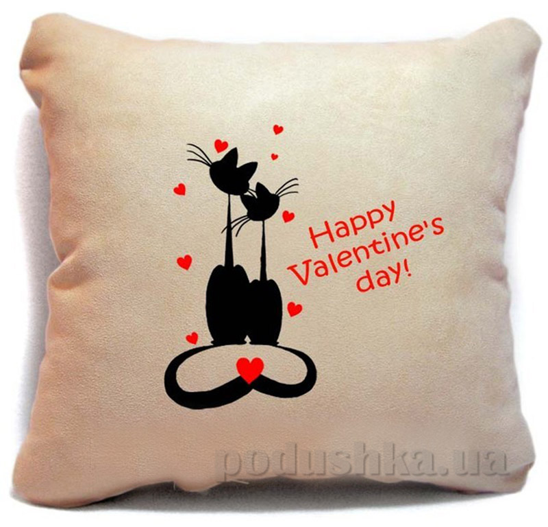 Подушка серии Happy Valentines day Slivki-10