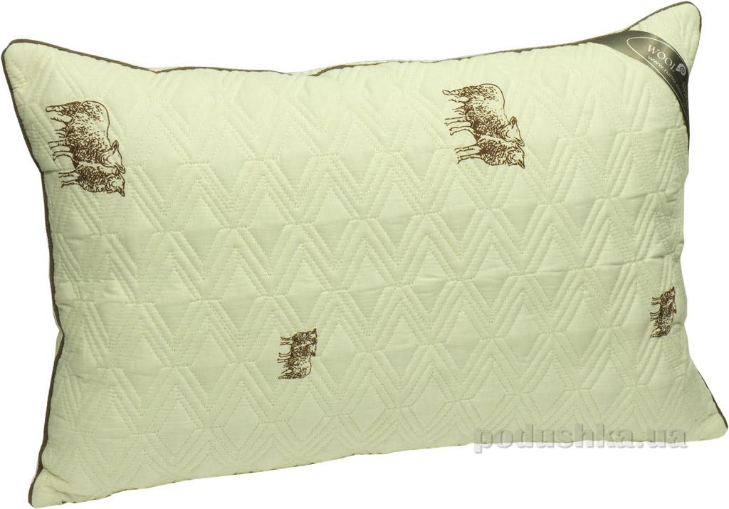 Подушка Руно Sheep шерстяная стеганая 40х60 см вес 450 г Руно