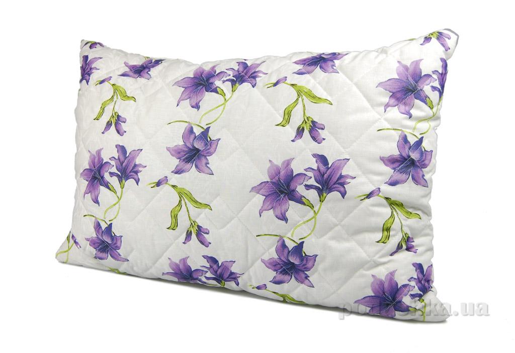 Подушка стёганая Home line Вьюнок фиолетовая