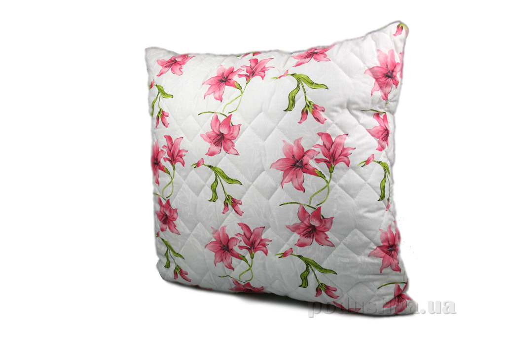 Подушка стёганая Home line Вьюнок розовая