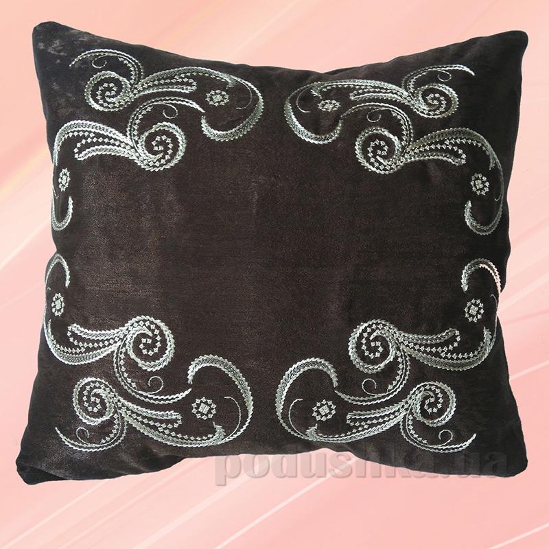 Подушка с вышивкой Украина ДП56 Морозко коричневая