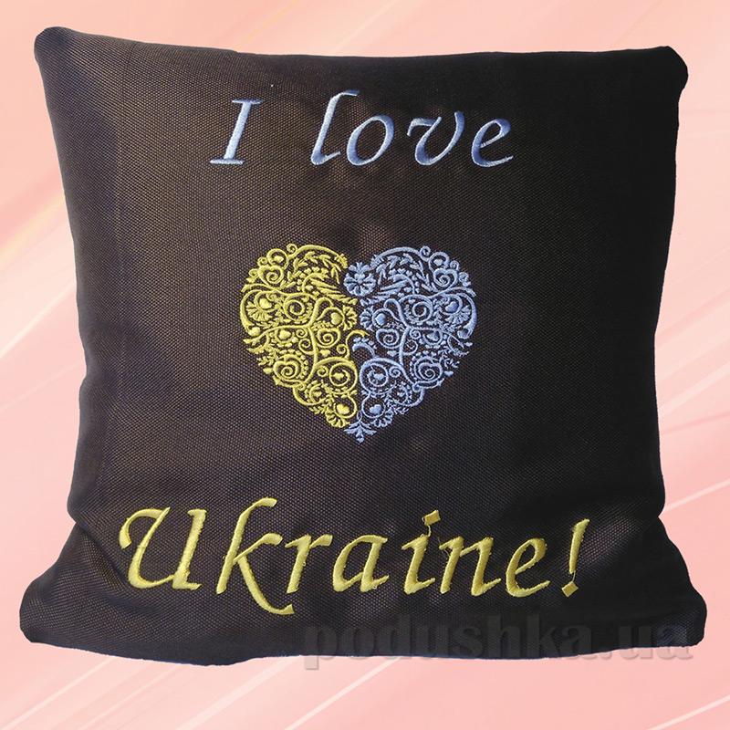 Подушка с вышивкой Украина ДП62 Люблю Украину