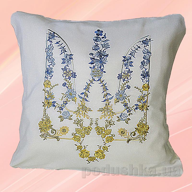 Подушка с вышивкой Украина ДП63 Трезубец