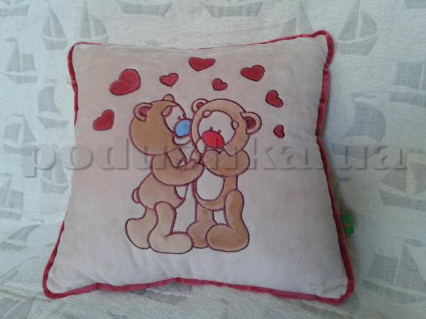 Подушка Влюблённые медвежата