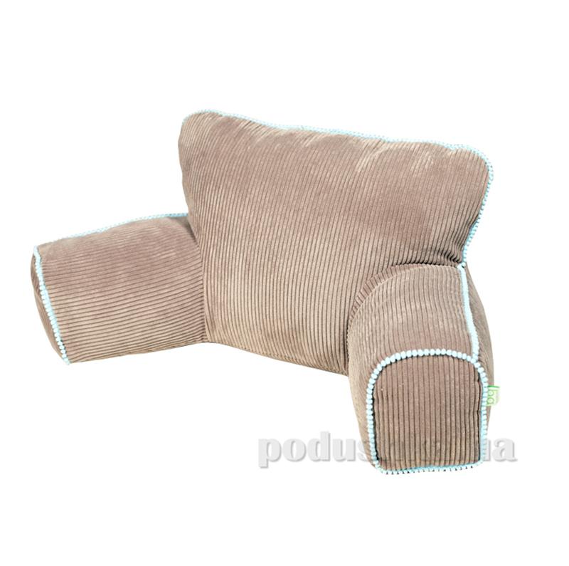 Подушка-кресло Ergo Lounge mini Какао с голубым кантом
